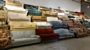 Couch Art Instalation in Verge Gallery Sacramento
