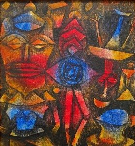 Paul Klee painting - Collection of figures at the Met in New York-1926