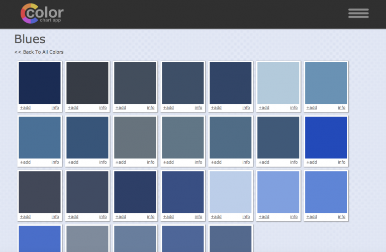 Art Paint Mixing Color Chart App Screen Shot